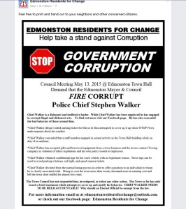 Flier that was circulated around Edmonston. (Edmonston Residents for Change)