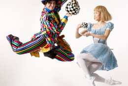 "Jared Nelson and Maki Onuki as the Mad Hatter and Alice in ""Alice in Wonderland."" (Courtesy Dean Alexander)"