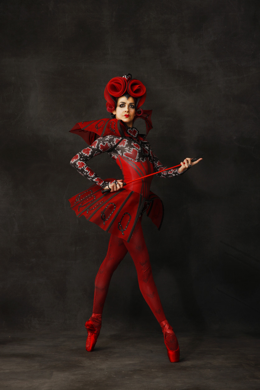 "Sona Kharatian as the Queen of Hearts in ""Alice in Wonderland."" (Courtesy Dean Alexander)"
