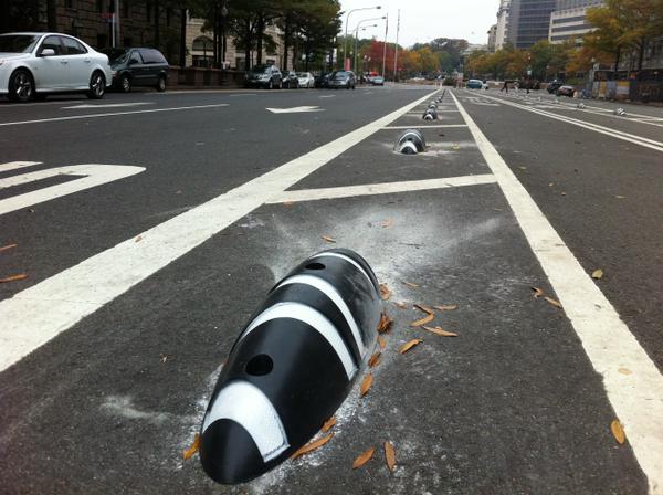 Illegal U-turns across Pennsylvania Avenue bike lanes growing safety concern