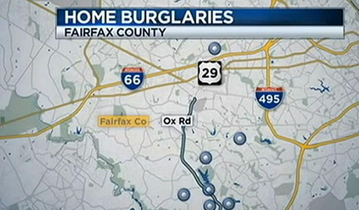 Burglars in Fairfax County have expensive taste