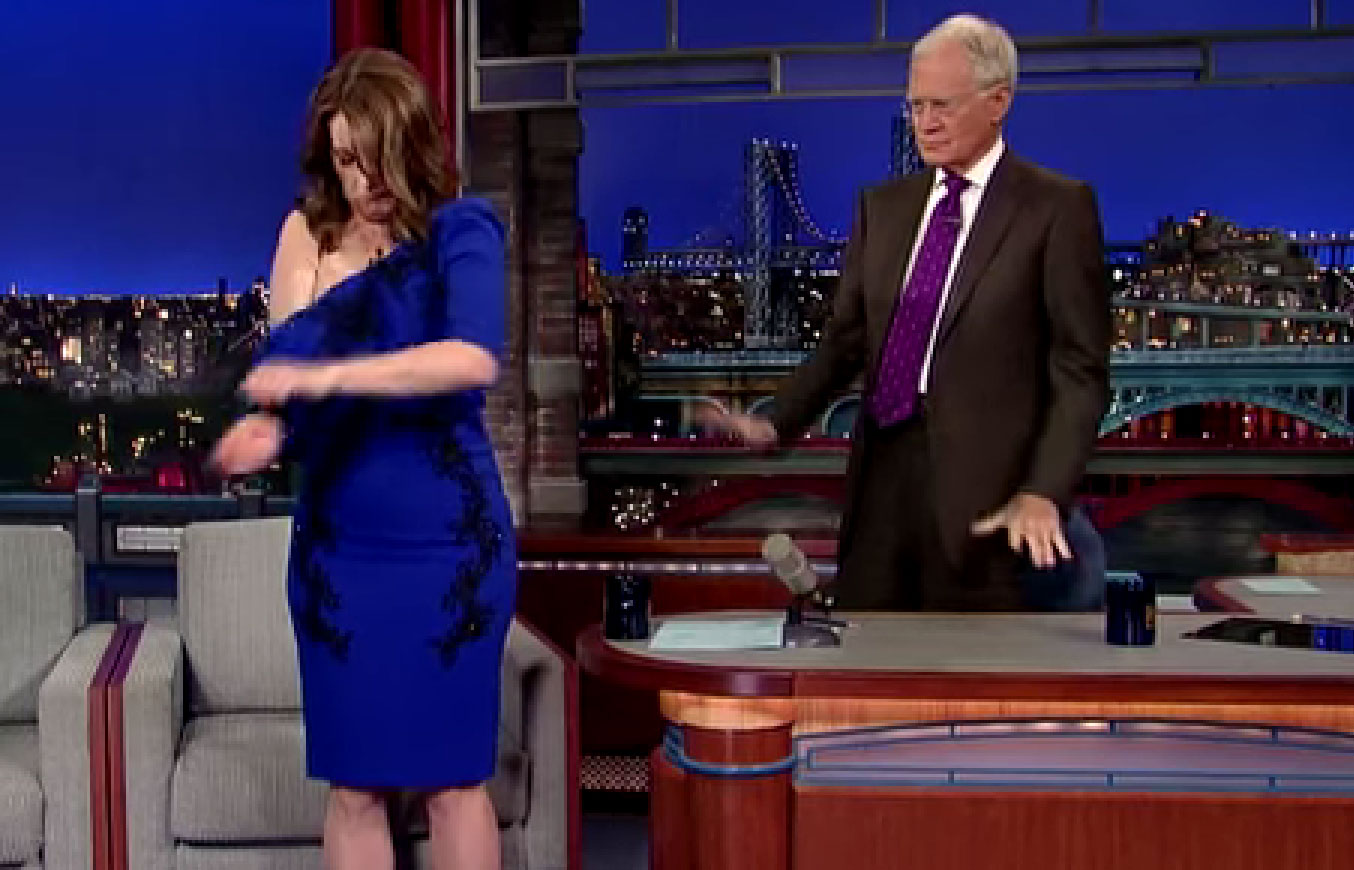 Tina Fey Takes It Off for Letterman