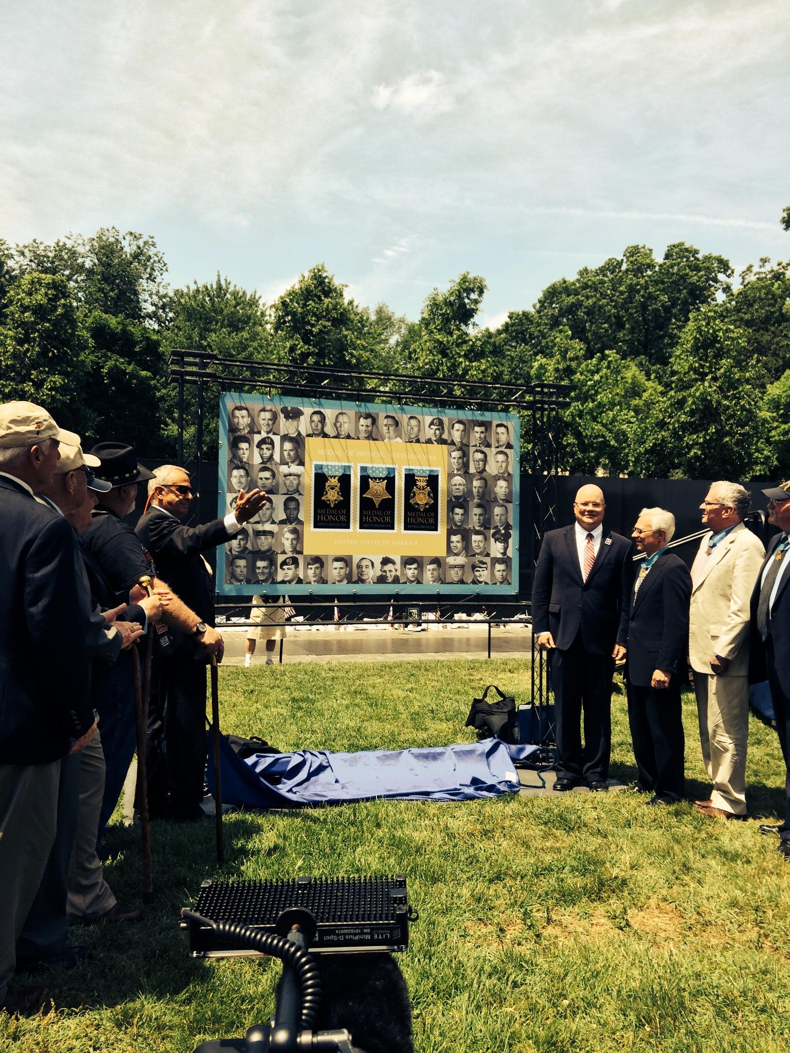 Medal of Honor stamps dedicated at Vietnam Veterans Memorial