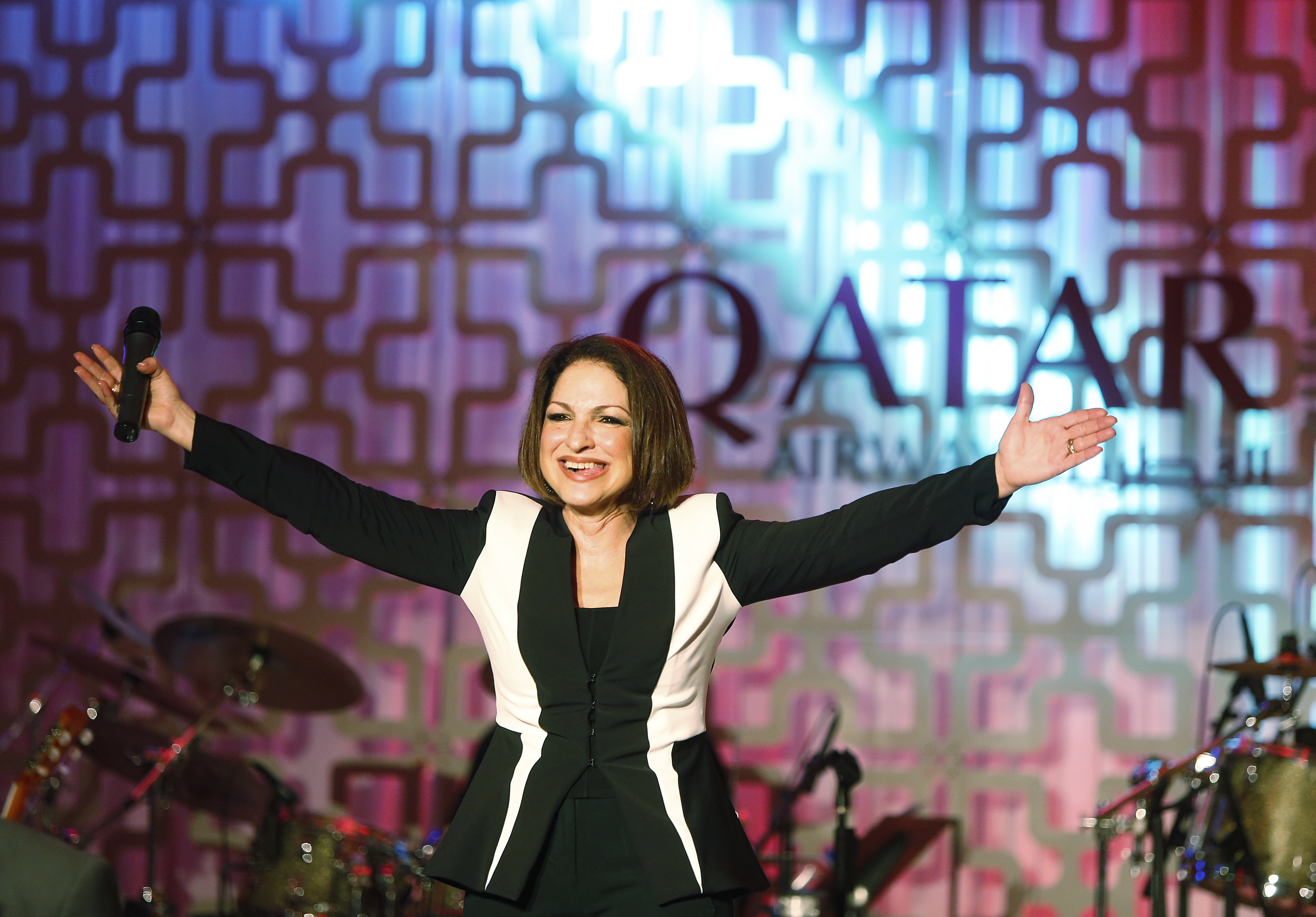 Gloria Estefan performs Sunday on Capitol Lawn