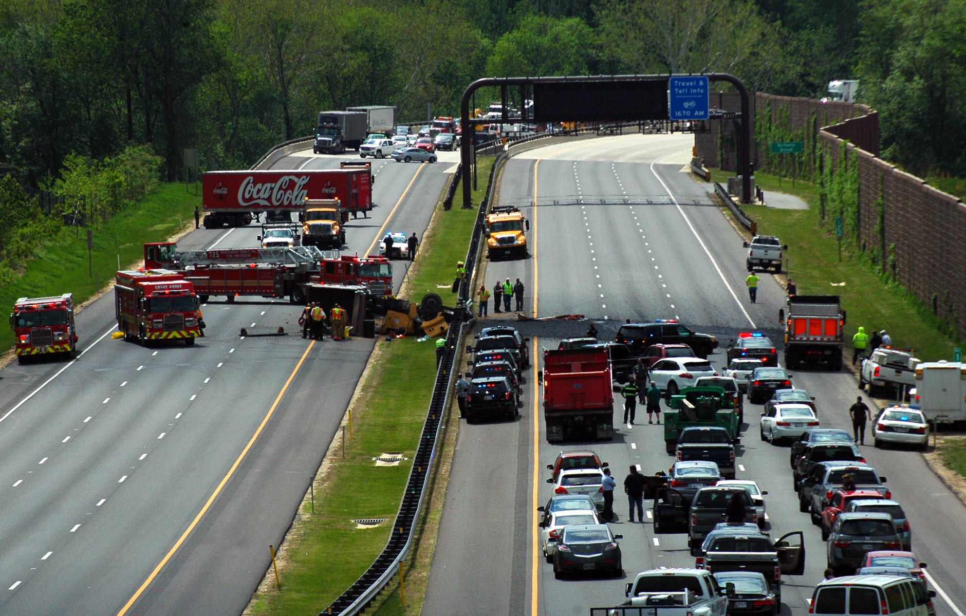 A crash along the ICC Wednesday afternoon is the first fatality on the road since it opened in November 2011. (WTOP/Dave Dildine)