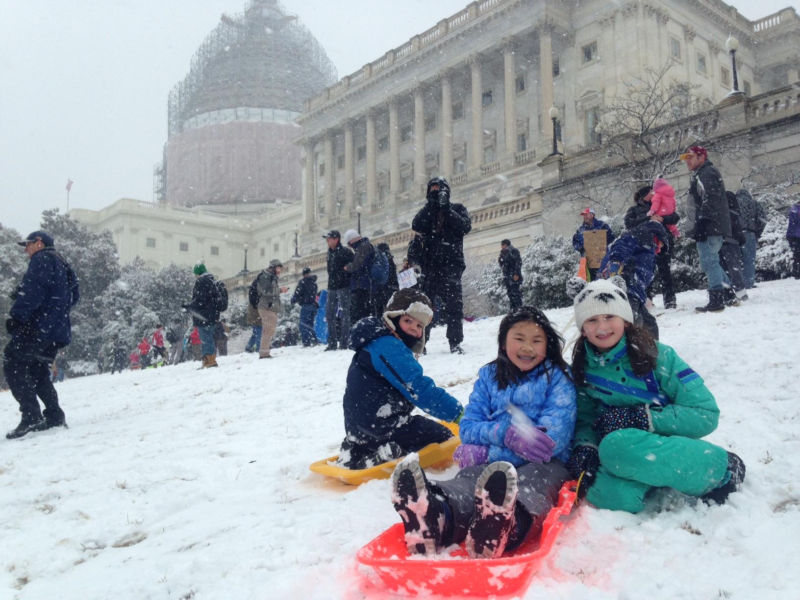 Winter win: Congress lifts Capitol Hill sledding ban