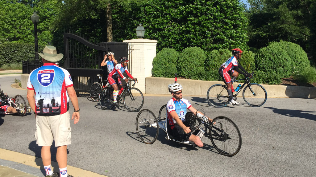 Wounded vets cycle toward recovery this Memorial Day