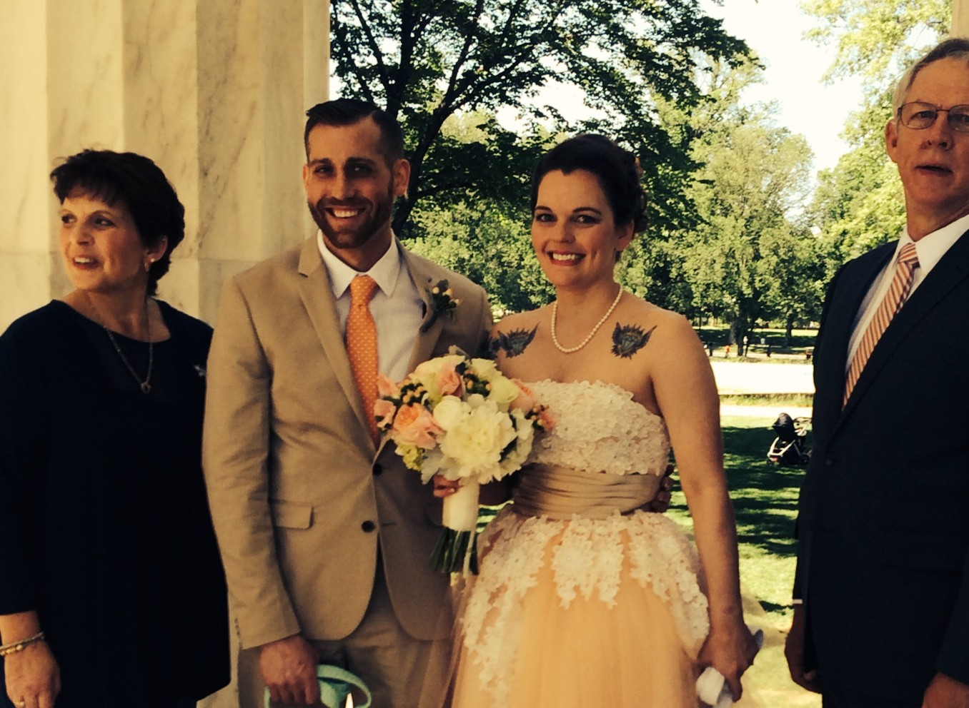 Local couple finds time to marry during busy holiday weekend