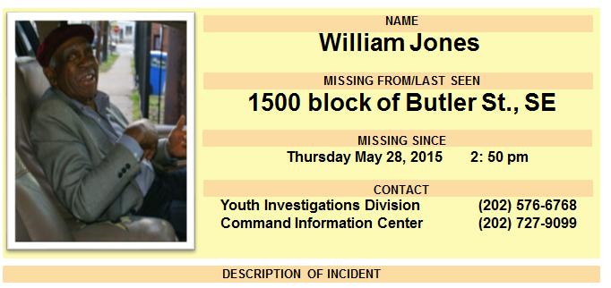 Man, 83, missing in D.C.