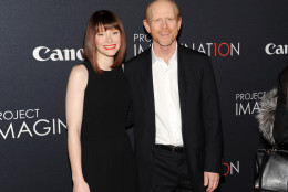"Actress Bryce Dallas Howard and her father, director Ron Howard, attend the global premiere of Canon's ""Project Imaginat10n"" Film Festival at Alice Tully Hall on Thursday, Oct. 24, 2013 in New York. (Photo by Evan Agostini/Invision/AP)"