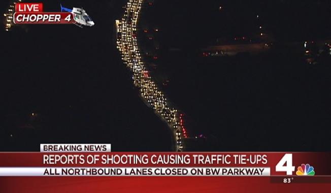 Police investigating shooting along Baltimore-Washington Parkway