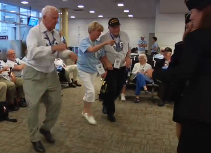 WWII vets cut a rug at Reagan National (Video)