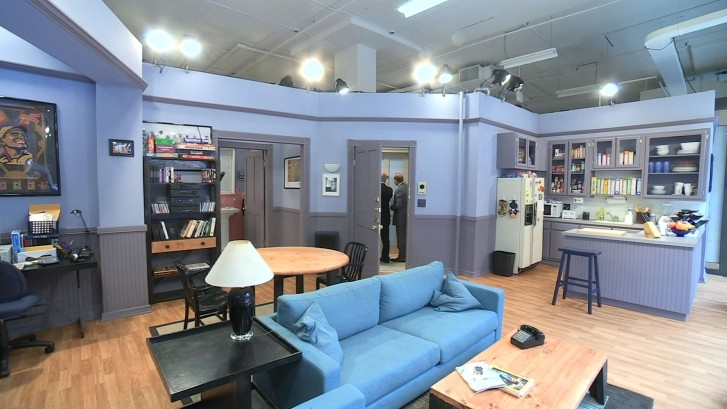 this june 23 2015 image from video shows a replica of the set from jerry seinfelds apartment from the nbc sitcom seinfeld in new york created by the - Blue Apartment 2015