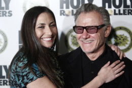 "Actor Harvey Keitel and daughter Stella Keitel arrive to the premiere of ""Holy Rollers"" in New York on Monday, May 10, 2010. (AP Photo/Peter Kramer)"