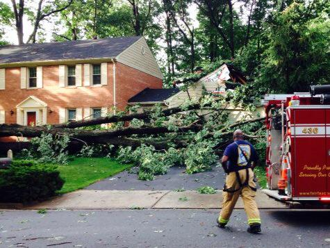 Storm damage in the area portends a wet weekend