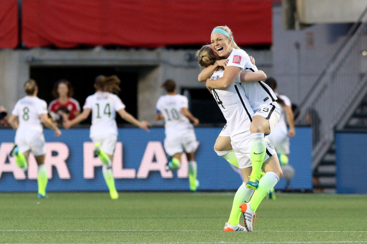a5c7c1eddce Julie Johnston and the USWNT defense has allowed a single goal through five  games en route to the World Cup Semifinals. (Getty Images Jana.