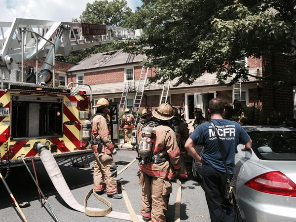 Silver Spring town house fire displaces six families