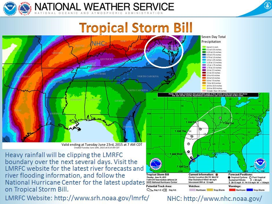 This graphic shows the track of Tropical Storm Bill as it accelerates and makes its turn to the east-northeast.