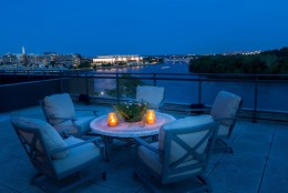 A view of the Kennedy Center from the rooftop. (Courtesy Sean Shanahan)