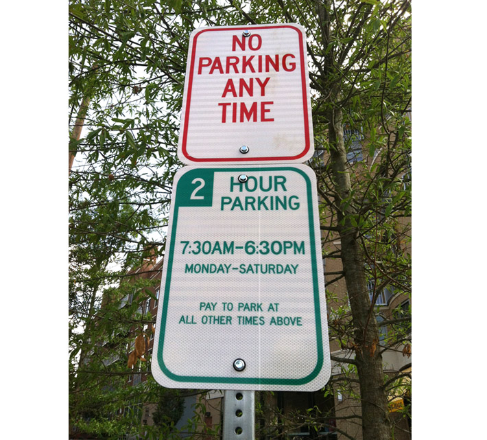 New parking signs in Northwest create confusion