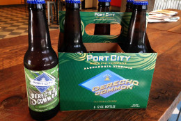 Port City Brewing announced the limited release of its summer seasonal Derecho Common Friday, June 26, 2015. (WTOP/Michelle Basch)