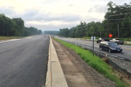 The plan (weather permitting) is to shift Richmond Highway's southbound lanes onto the new roadway and bridge by mid-day Tuesday, June 30 and then shift the northbound lanes over onto the new lanes  by midday Wednesday July 1. (WTOP/Kristi King)