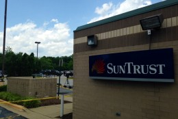 The suspects allegedly stole a vehicle with the intention of robbing the SunTrust bank in Upper Marlboro, according to police. (WTOP/Megan Cloherty)