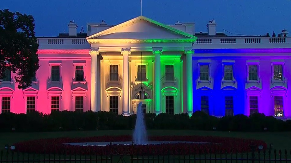 White House lit in rainbow colors for SCOTUS ruling