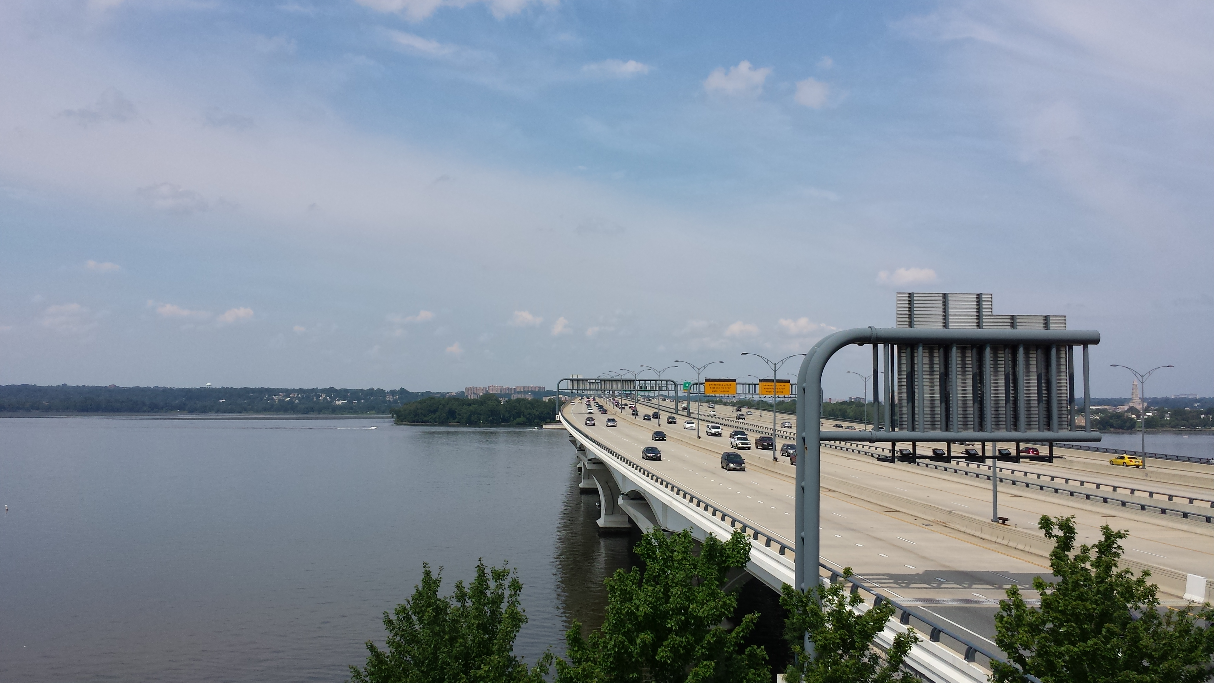 Person rescued from water near Woodrow Wilson Bridge
