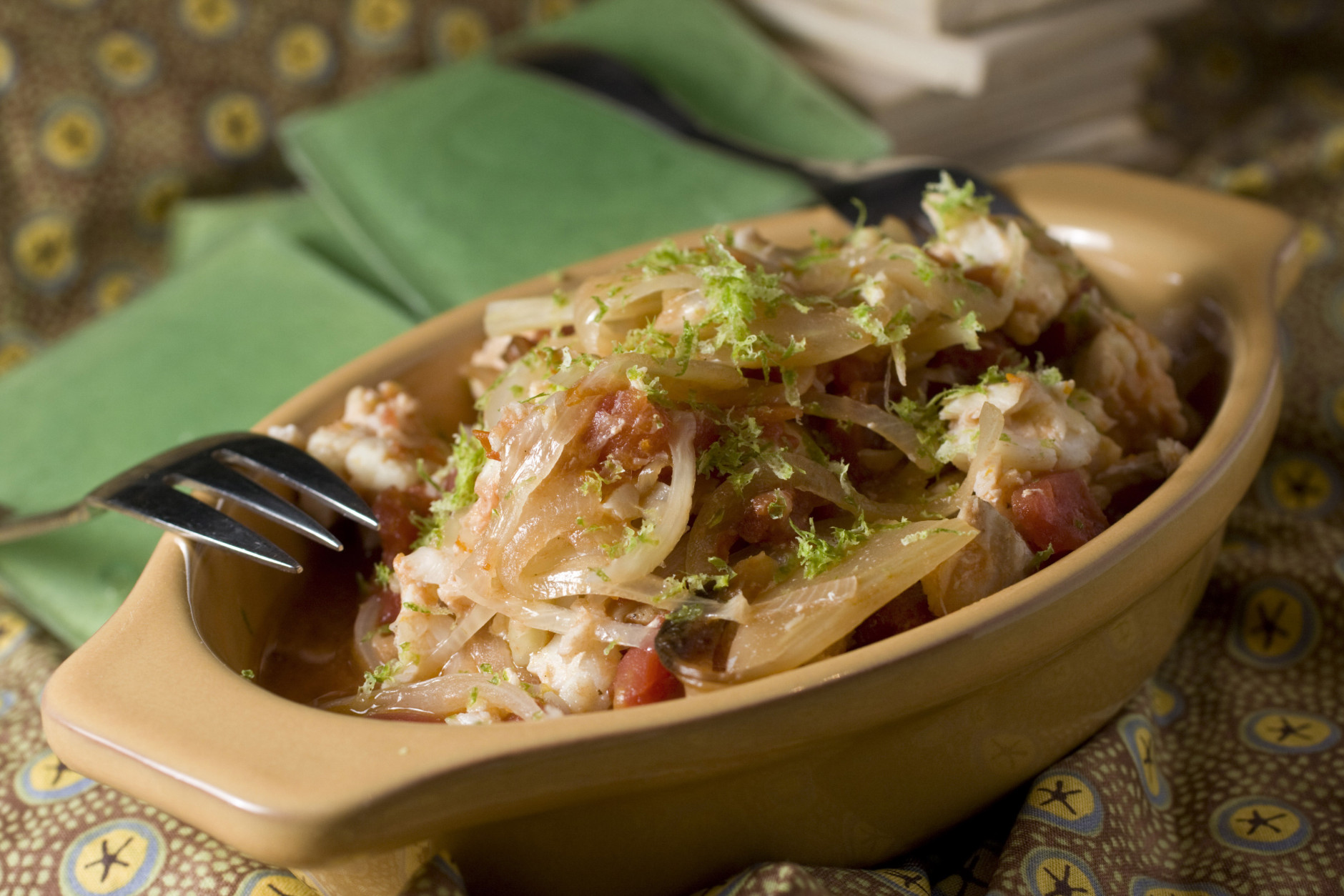 **FOR USE WITH AP LIFESTYLES**      Cod With Tomatoes and Fennel is seen in this Sunday, Dec. 7, 2008 photo. While seafood is a less than common meal for a slow-cooker this dish solves the problem of mushy results by adding the fish at the end of the cooking cycle.   (AP Photo/Larry Crowe)