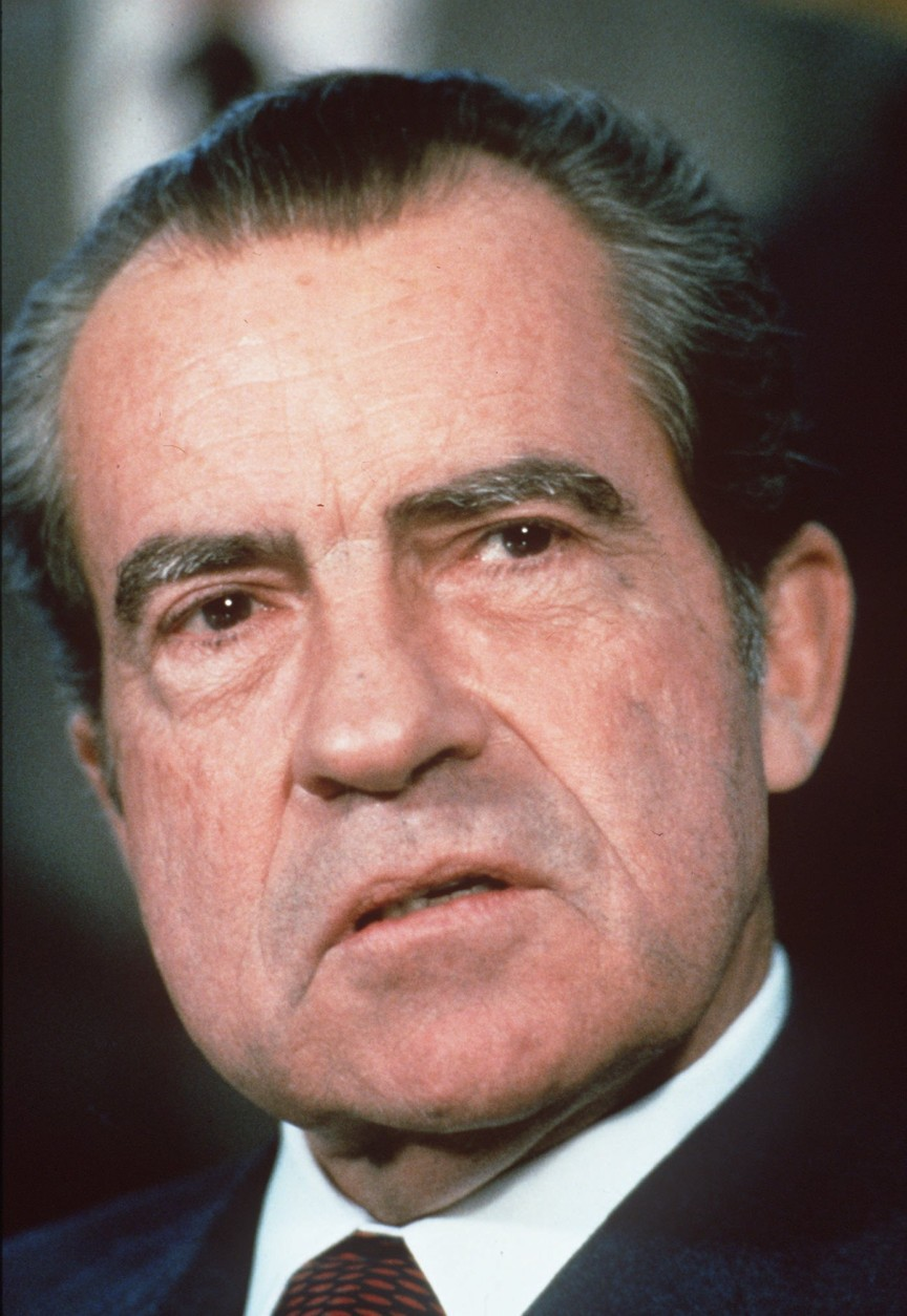 On this date in 1974, the U.S. Supreme Court unanimously ruled that President Richard Nixon had to turn over subpoenaed White House tape recordings to the Watergate special prosecutor. (AP Photo/ file)