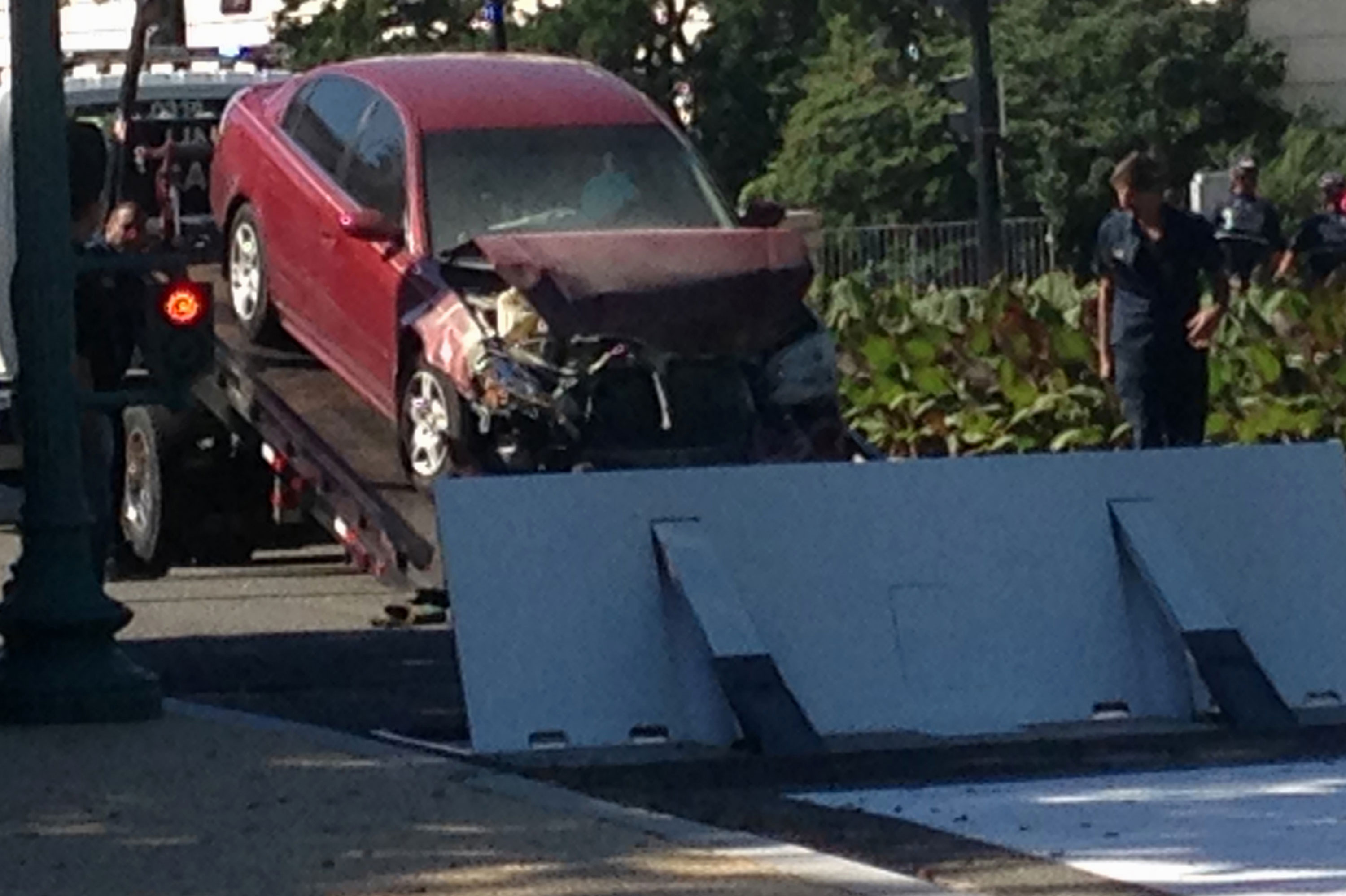 Driver who crashed car into Capitol barricade charged