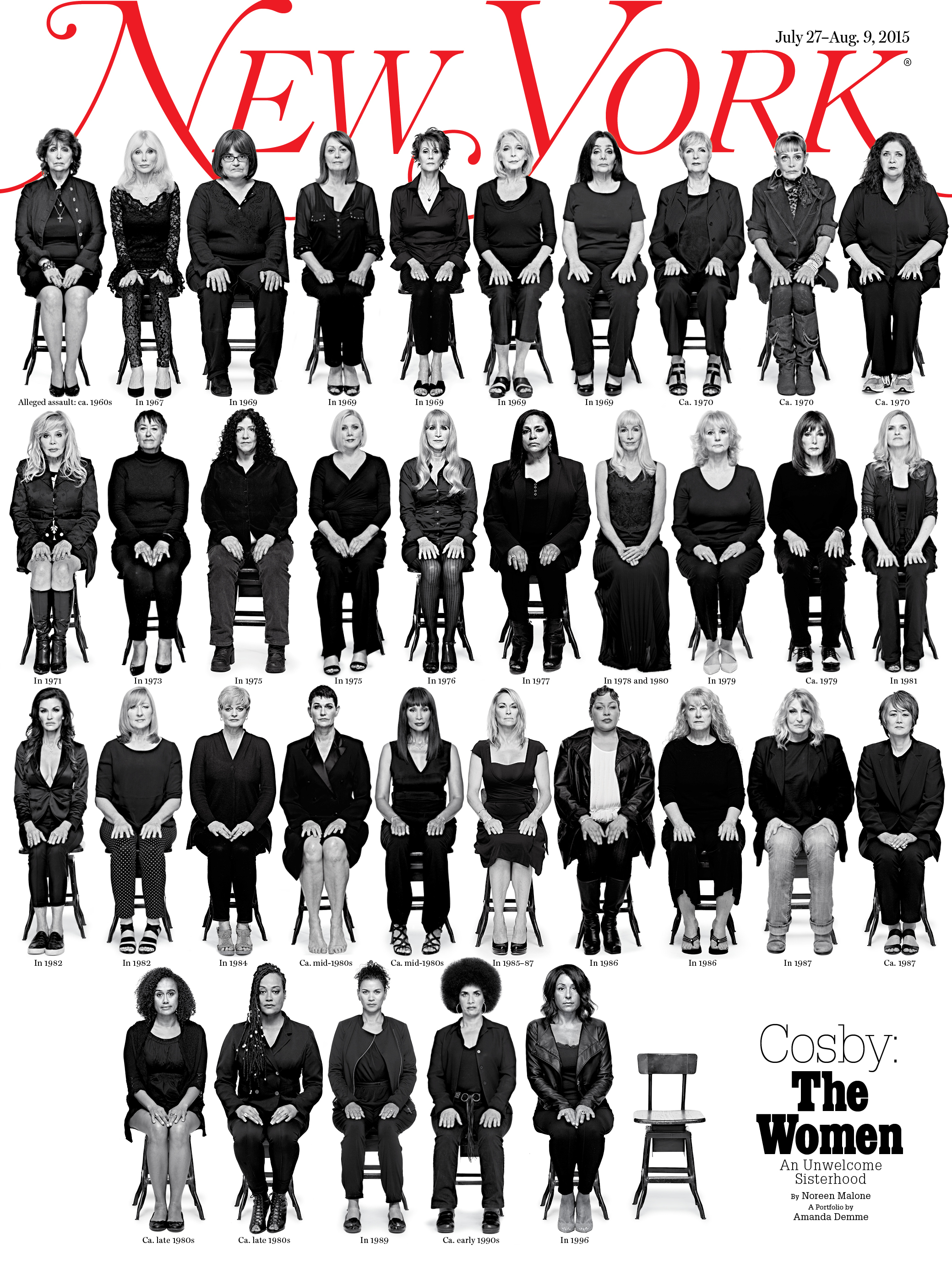 Magazine site offline after publishing cover of 35 Cosby accusers