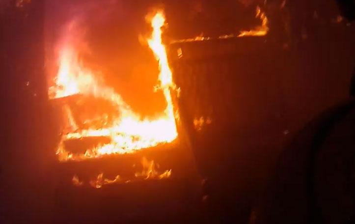 A first-hand look inside a house fire (Video)