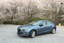 The Mazda3 S Grand Touring with its peppy 4-cylinder engine and good gas mileage makes a fun, sporty 5-door compact. (WTOP/Mike Parris)