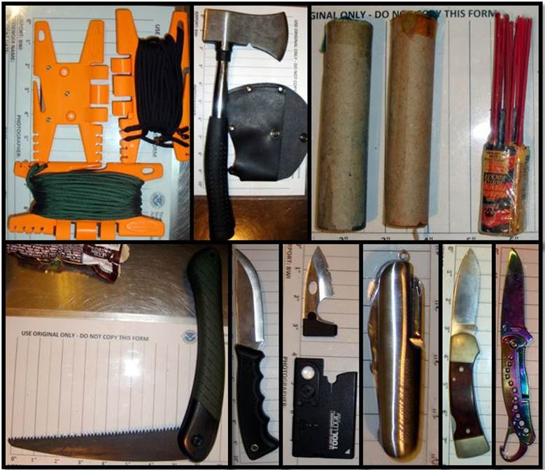 Banned items found in man's carry-on bag at BWI