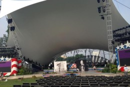 Rehearsals start for the Capitol Fourth concert on Friday morning ahead of the Saturday live show. (WTOP/Jamie Forzato)