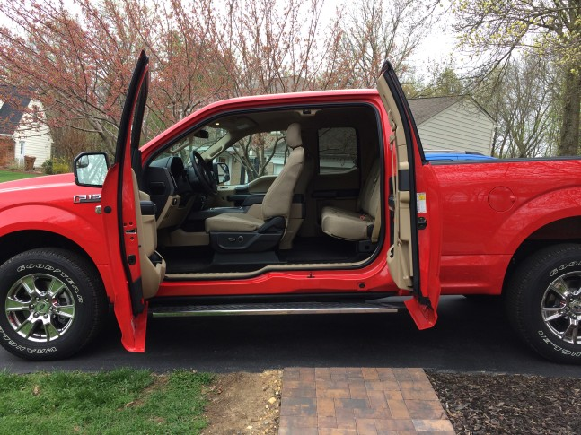 Mike Parris spent a week with the $43085 F-150 XLT Supercab the middle cab size with the rear doors that require the front doors open to use. & Car Report: The most popular Ford F-150 gets a slim-down makeover | WTOP