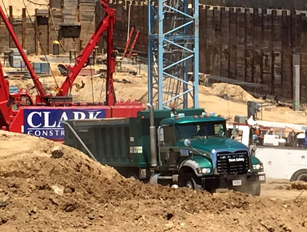 Celebration at The Wharf as digging wraps up