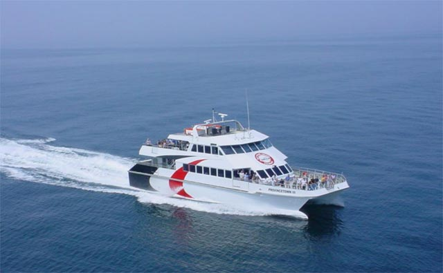 A photo provided by Prince William County Supervisor Frank J. shows what local fast ferry catamarans might look like. (Courtesy of Frank J. Principi)