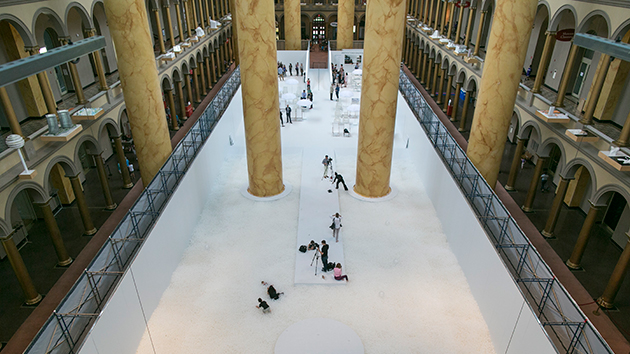 Indoor 'Beach' Attracts Washington DC Tourists