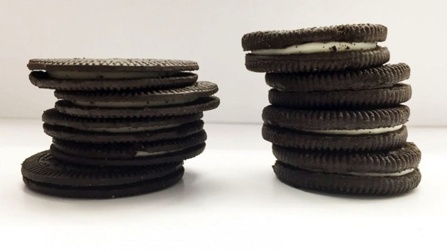 Side-By-Side Comparison of New Oreo Thins to Original