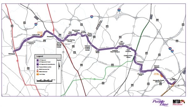 State to accept less Purple Line money from Montgomery County