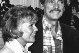 In 1985, a shockingly gaunt Rock Hudson appeared at a news conference with actress Doris Day (it was later revealed Hudson was suffering from AIDS). (AP)