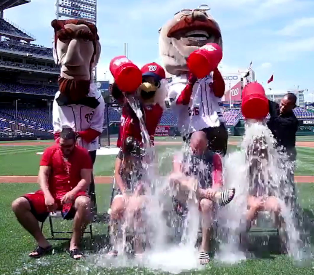 It's back: The Ice Bucket Challenge goes to the ballpark