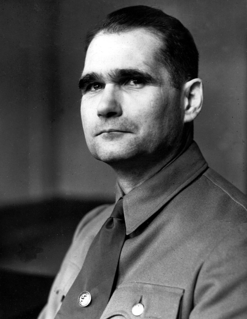 This is an undated photograph of Rudolf Hess, Adolf Hitler's deputy, during World War II.  (AP Photo)