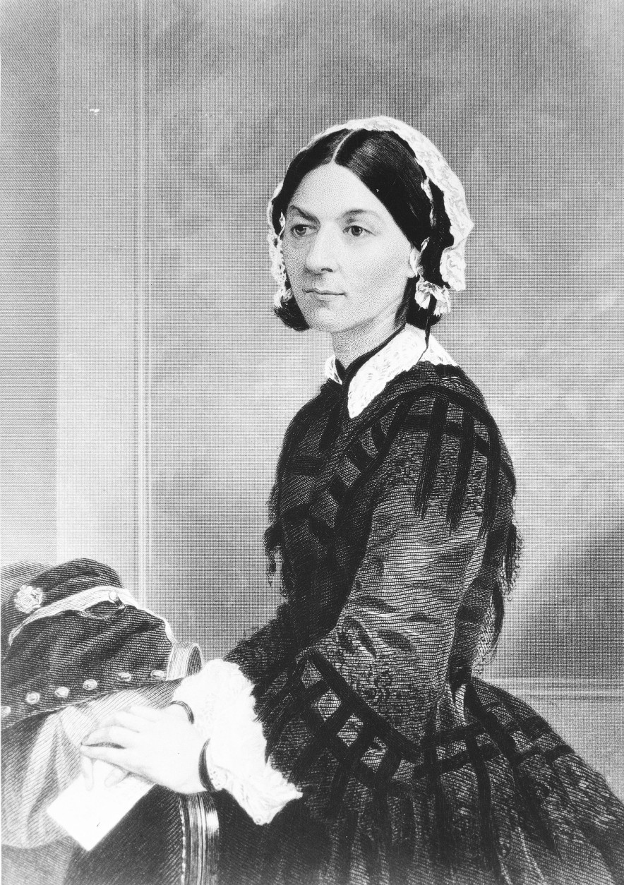 On this date in 1910, Florence Nightingale, the founder of modern nursing, died in London at age 90. (AP Photo)