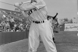 On this date in 1995, Baseball Hall of Famer Mickey Mantle died at a Dallas hospital of rapidly spreading liver cancer; he was 63. He is seen here in 1951. (AP Photo)