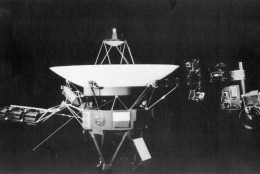 On this date in 1981, the U.S. spacecraft Voyager 2 came within 63,000 miles of Saturn's cloud cover, sending back pictures of and data about the ringed planet. (AP-Photo/HO)