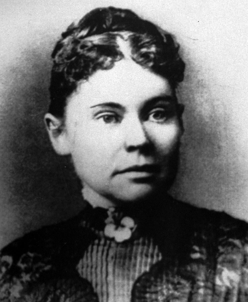 In 1892, Andrew and Abby Borden were axed to death in their home in Fall River, Massachusetts. Lizzie Borden, Andrew's daughter from a previous marriage, was accused of the killings, but acquitted at trial. This is a 1890 photo of Lizzie Borden. (AP Photo)